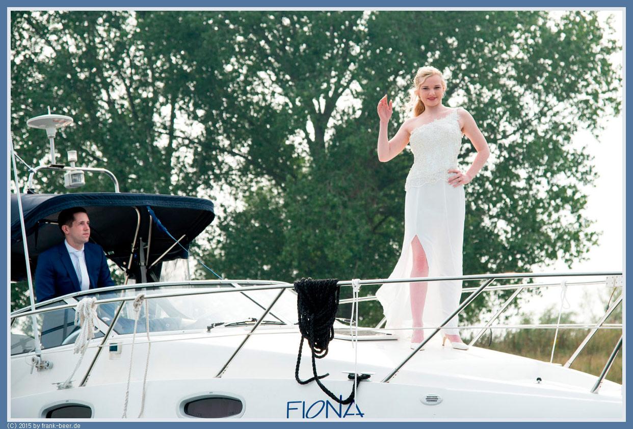Motoryacht Hochzeitsfotos
