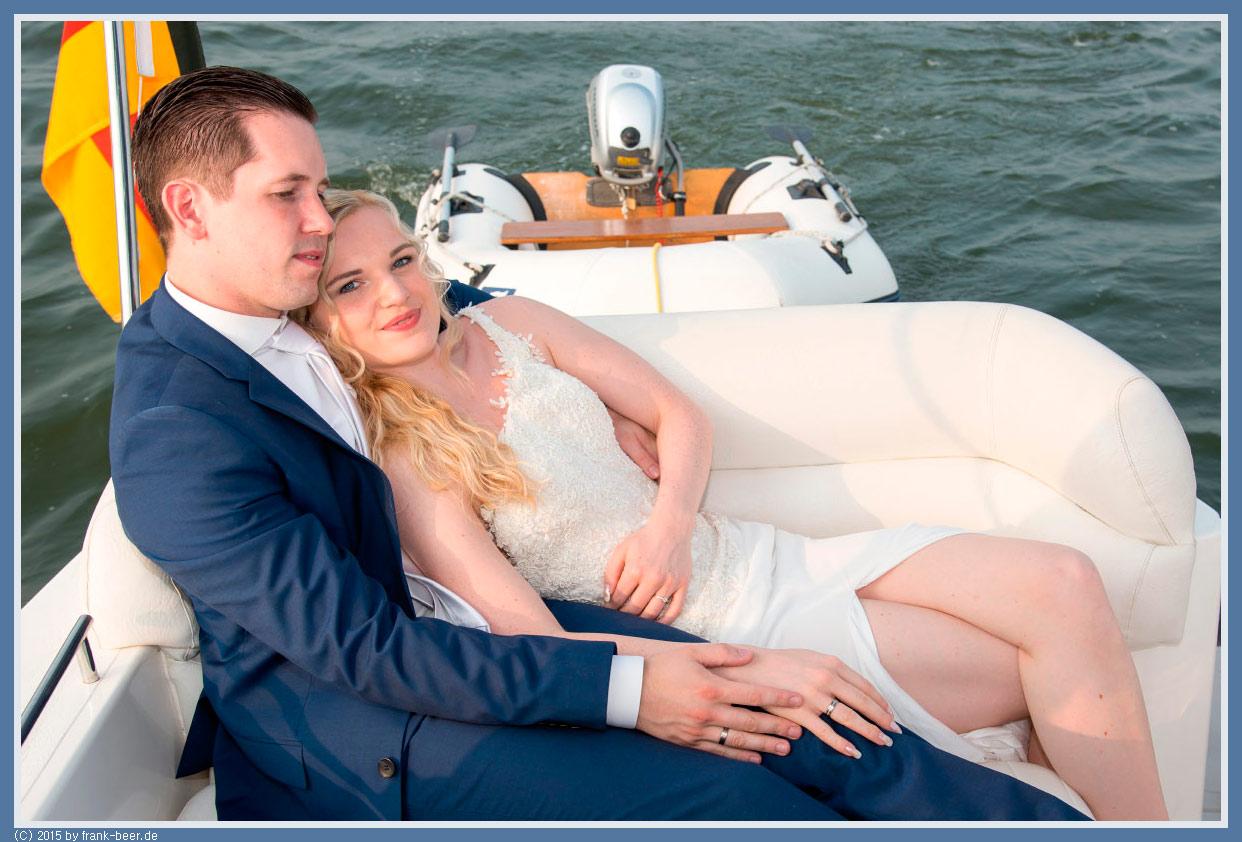 Brautpaar Yacht